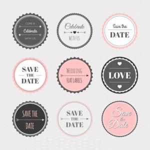 Ai-Vintage-wedding-sticker-collection-vector-free-download
