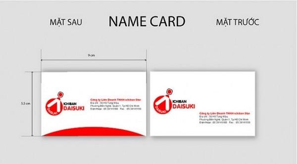 in card visit Cau Giay